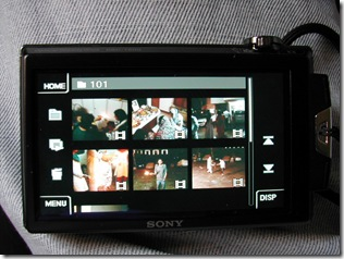Sony DSC-T500 Grid View